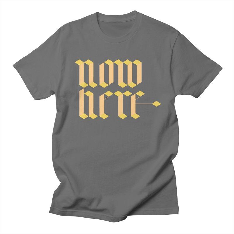 now/here Men's Regular T-Shirt by grzechotnick's Artist Shop
