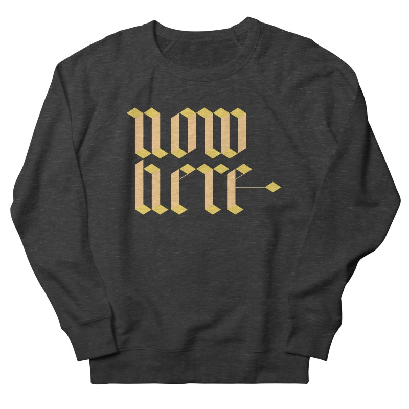 now/here Men's Sweatshirt by grzechotnick's Artist Shop