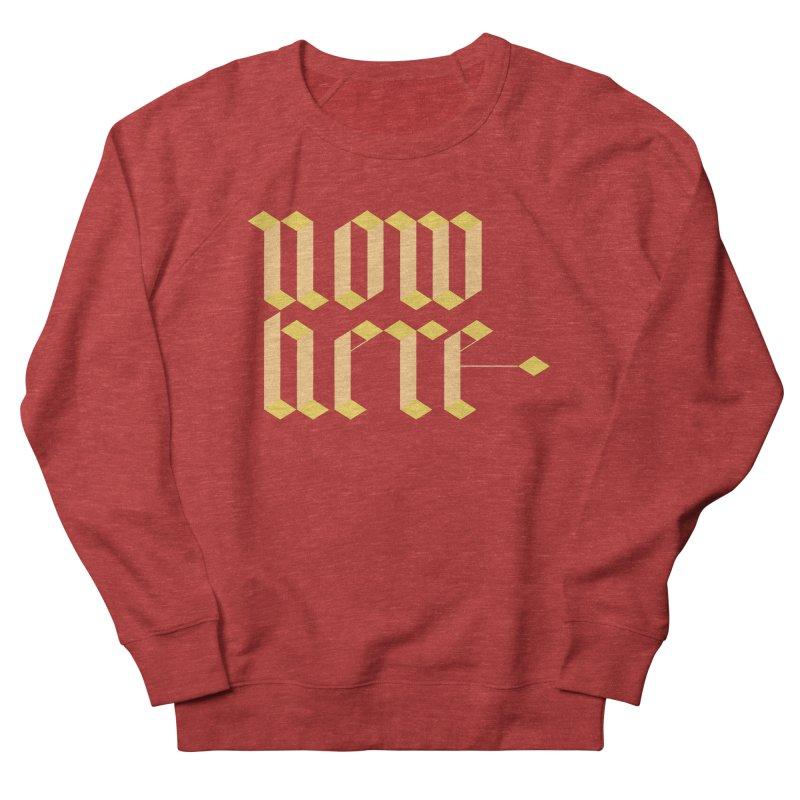 now/here Men's French Terry Sweatshirt by grzechotnick's Artist Shop