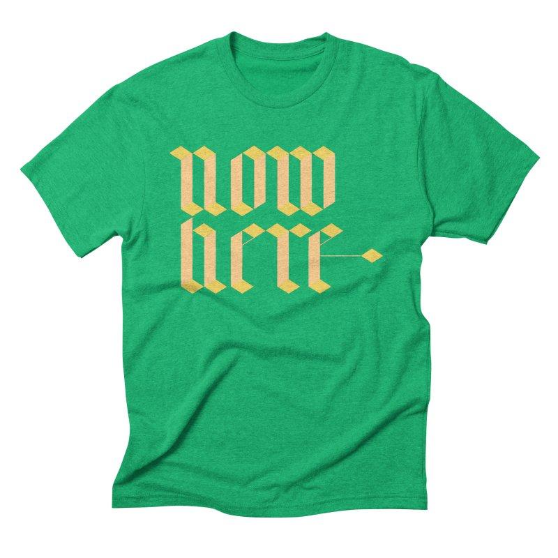 now/here Men's Triblend T-Shirt by grzechotnick's Artist Shop