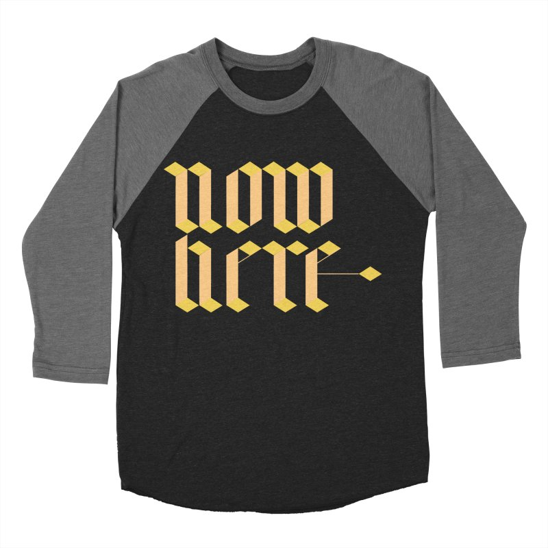 now/here Women's Baseball Triblend T-Shirt by grzechotnick's Artist Shop