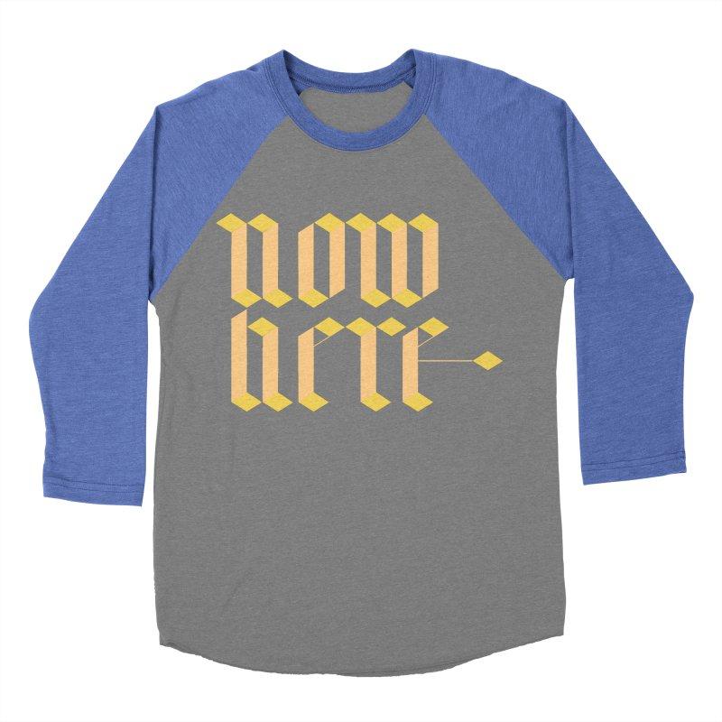 now/here Men's Baseball Triblend Longsleeve T-Shirt by grzechotnick's Artist Shop