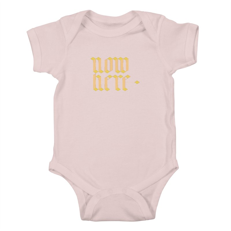 now/here Kids Baby Bodysuit by grzechotnick's Artist Shop
