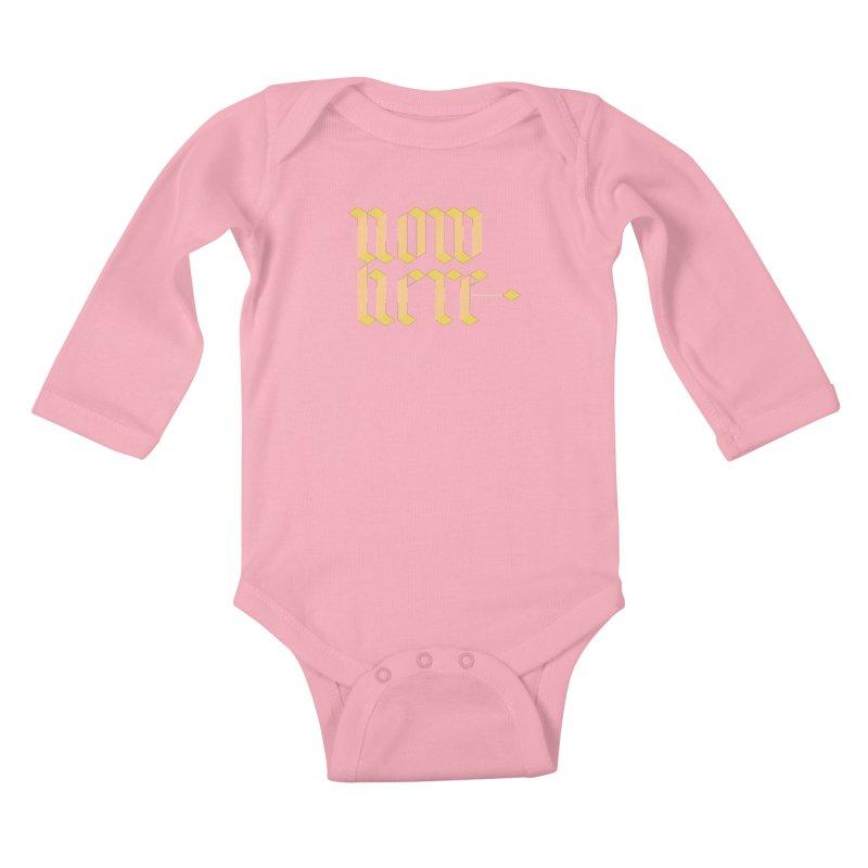 now/here Kids Baby Longsleeve Bodysuit by grzechotnick's Artist Shop