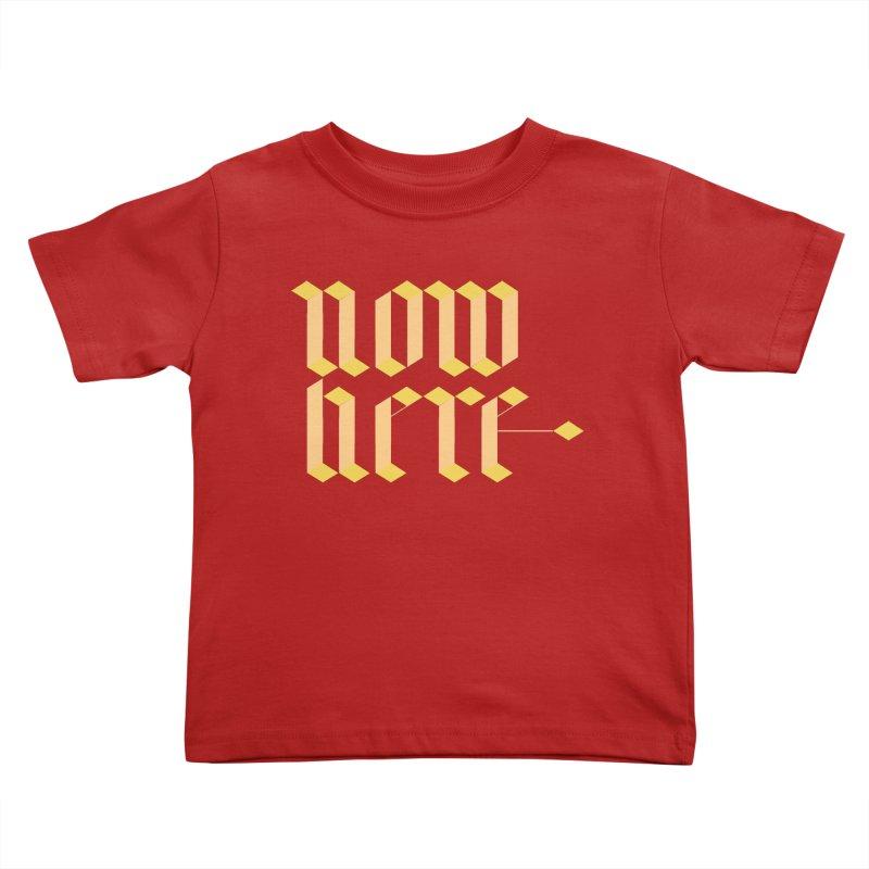 now/here Kids Toddler T-Shirt by grzechotnick's Artist Shop