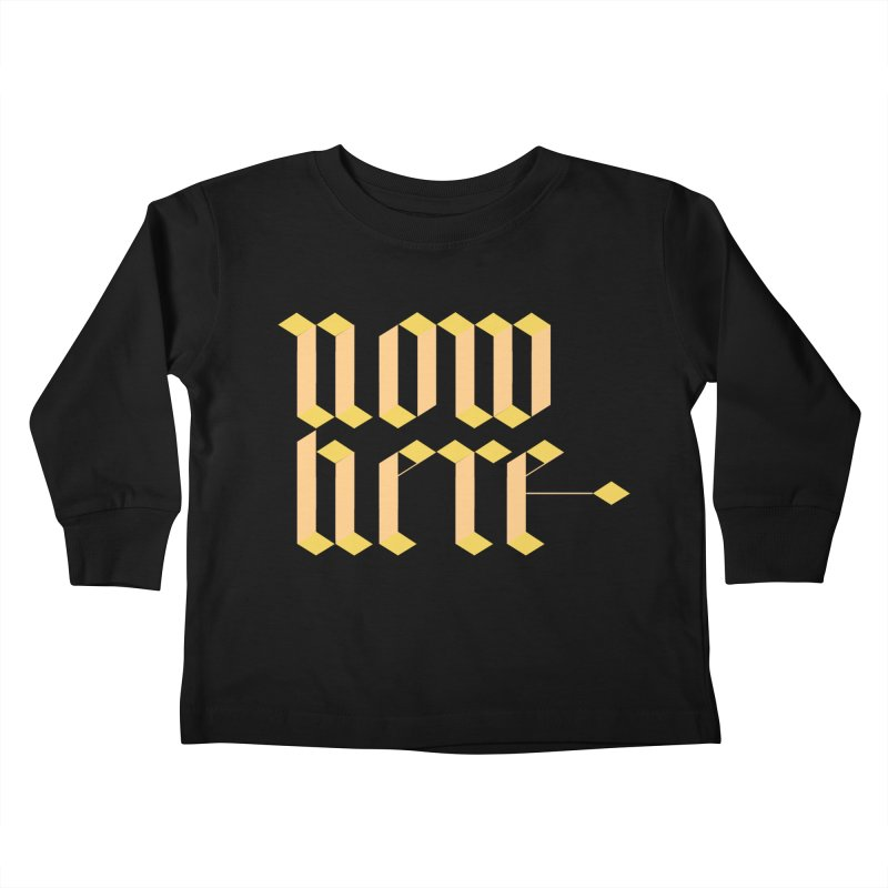 now/here Kids Toddler Longsleeve T-Shirt by grzechotnick's Artist Shop