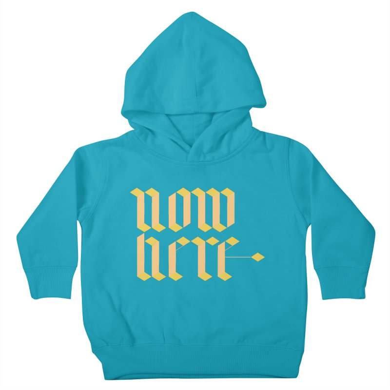 now/here Kids Toddler Pullover Hoody by grzechotnick's Artist Shop