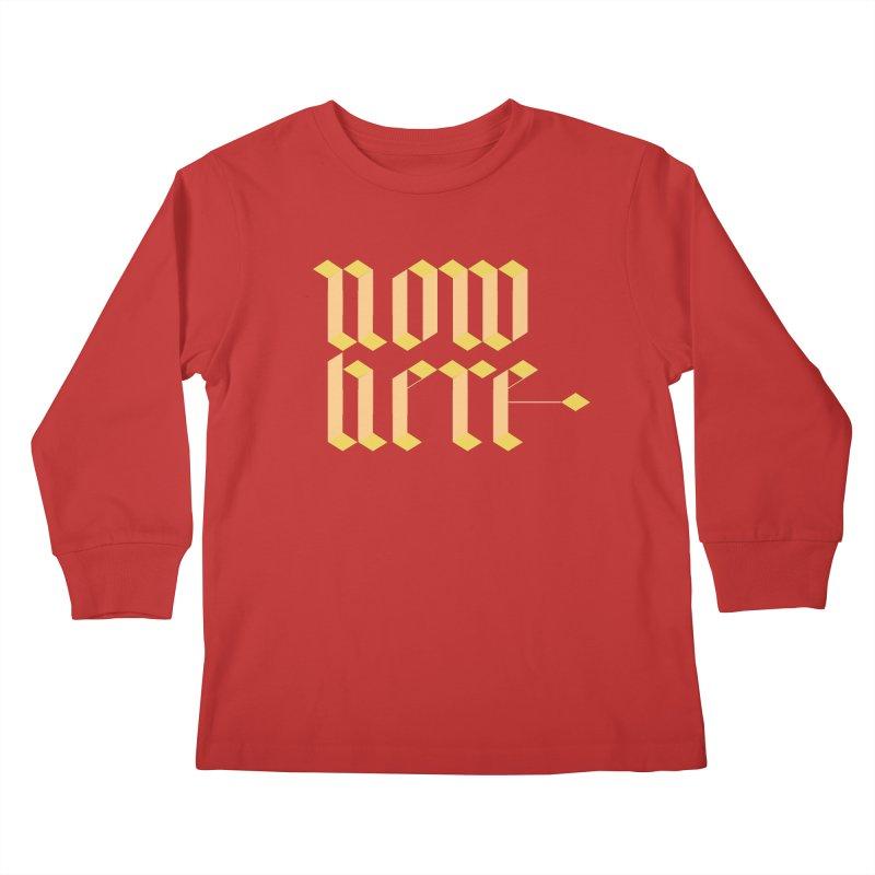 now/here Kids Longsleeve T-Shirt by grzechotnick's Artist Shop