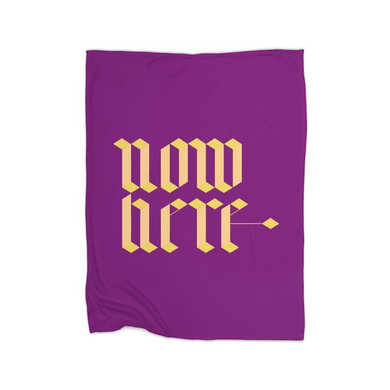 now/here Home Fleece Blanket Blanket by grzechotnick's Artist Shop