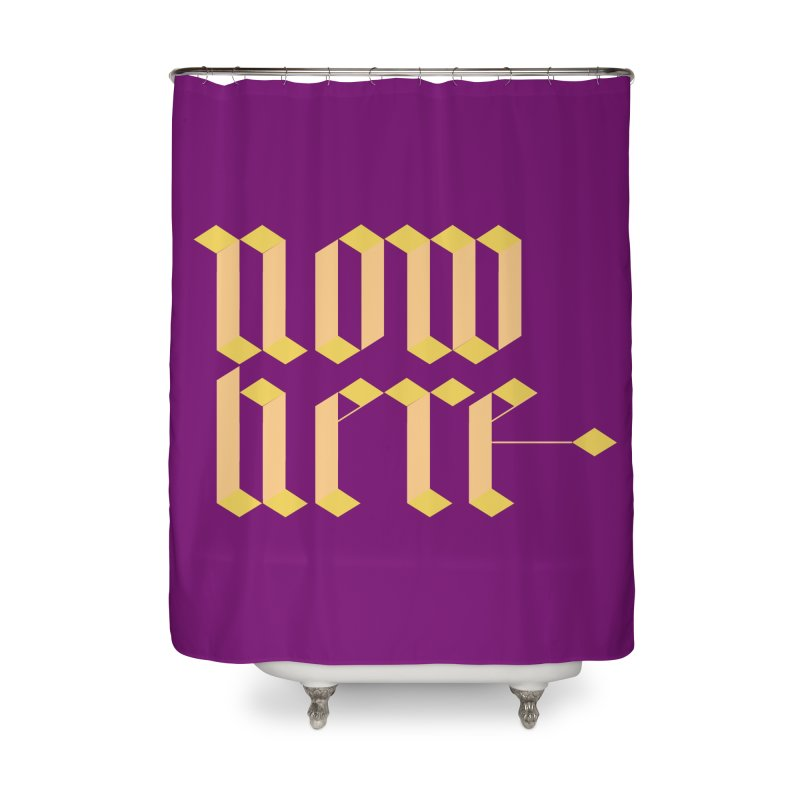 now/here Home Shower Curtain by grzechotnick's Artist Shop