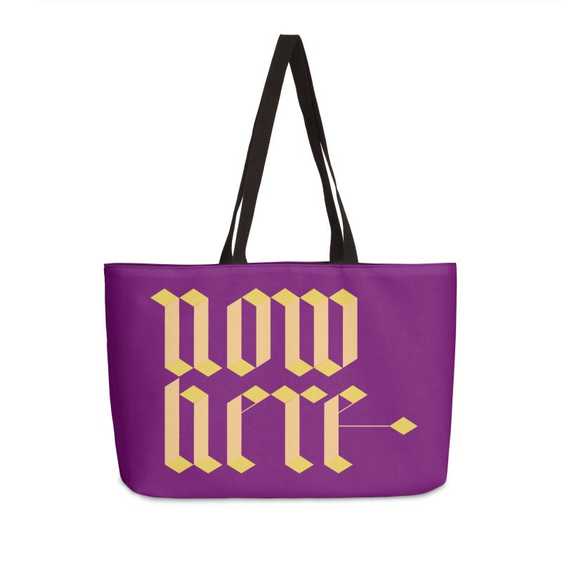 now/here Accessories Weekender Bag Bag by grzechotnick's Artist Shop