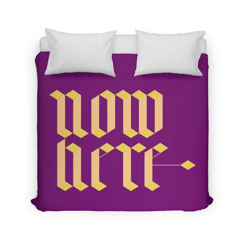 now/here Home Duvet by grzechotnick's Artist Shop
