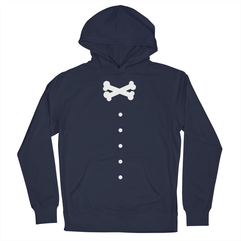 Bone Bow Tie in Women's French Terry Pullover Hoody Navy by grzechotnick's Artist Shop