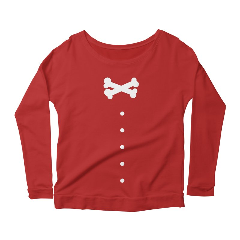 Bone Bow Tie Women's Longsleeve Scoopneck  by grzechotnick's Artist Shop