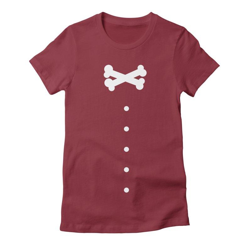 Bone Bow Tie Women's Fitted T-Shirt by grzechotnick's Artist Shop