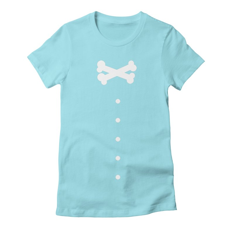 Bone Bow Tie Women's Fitted T-Shirt by grzechotnick's Artist Shop