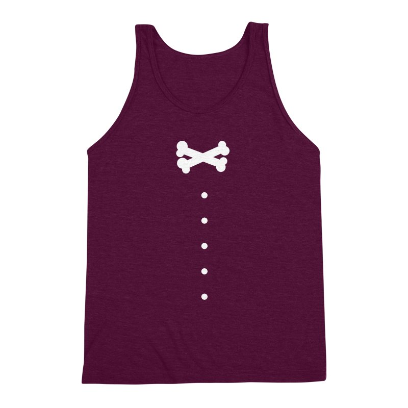 Bone Bow Tie Men's Triblend Tank by grzechotnick's Artist Shop