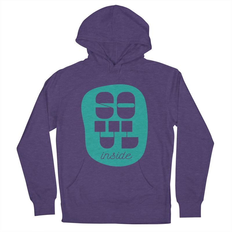 Soul (is) inside (you) Men's French Terry Pullover Hoody by grzechotnick's Artist Shop