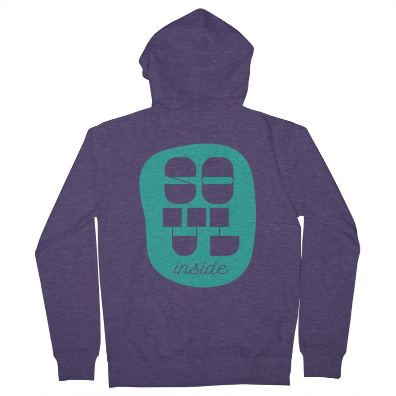 Soul (is) inside (you) Men's French Terry Zip-Up Hoody by grzechotnick's Artist Shop