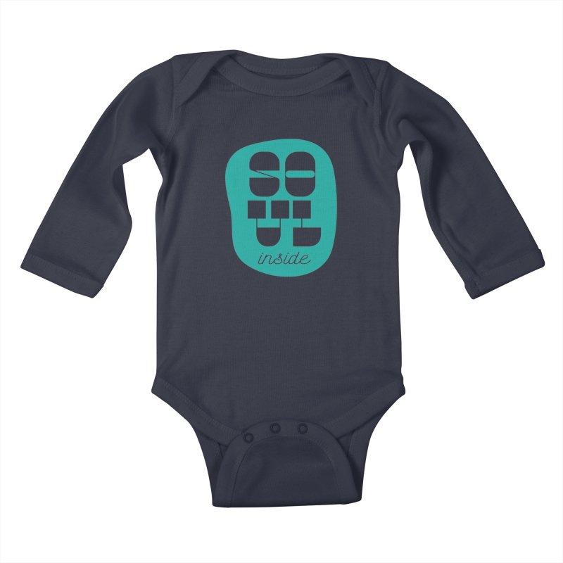 Soul (is) inside (you) Kids Baby Longsleeve Bodysuit by grzechotnick's Artist Shop