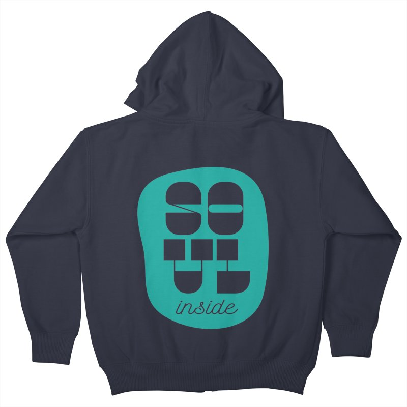 Soul (is) inside (you) Kids Zip-Up Hoody by grzechotnick's Artist Shop