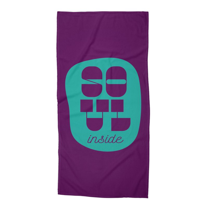 Soul (is) inside (you) Accessories Beach Towel by grzechotnick's Artist Shop