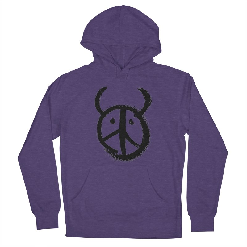 Horned Peace Women's French Terry Pullover Hoody by grzechotnick's Artist Shop
