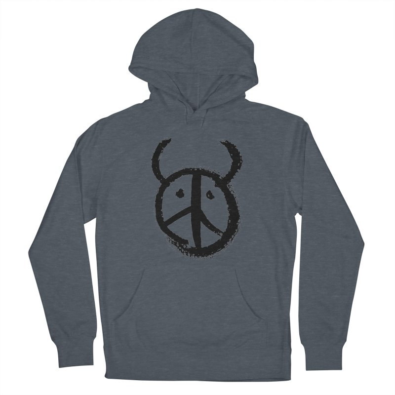 Horned Peace Men's Pullover Hoody by grzechotnick's Artist Shop