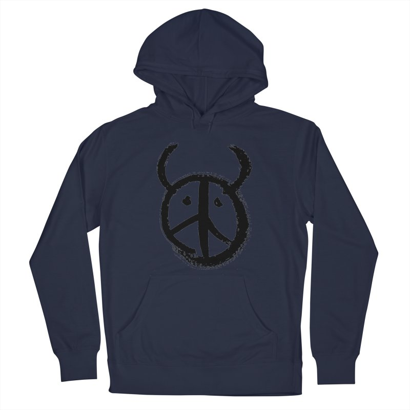 Horned Peace Men's French Terry Pullover Hoody by grzechotnick's Artist Shop