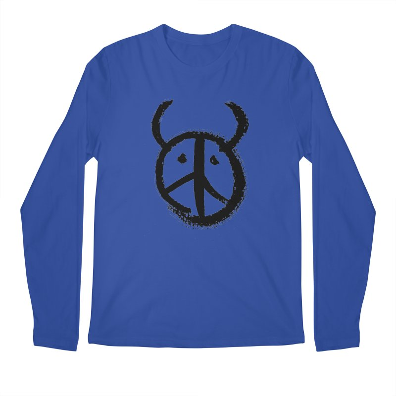 Horned Peace Men's Regular Longsleeve T-Shirt by grzechotnick's Artist Shop