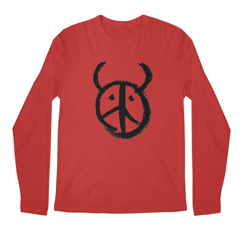 Horned Peace Men's Regular Longsleeve T-Shirt by grzechotnick's Artist Shop