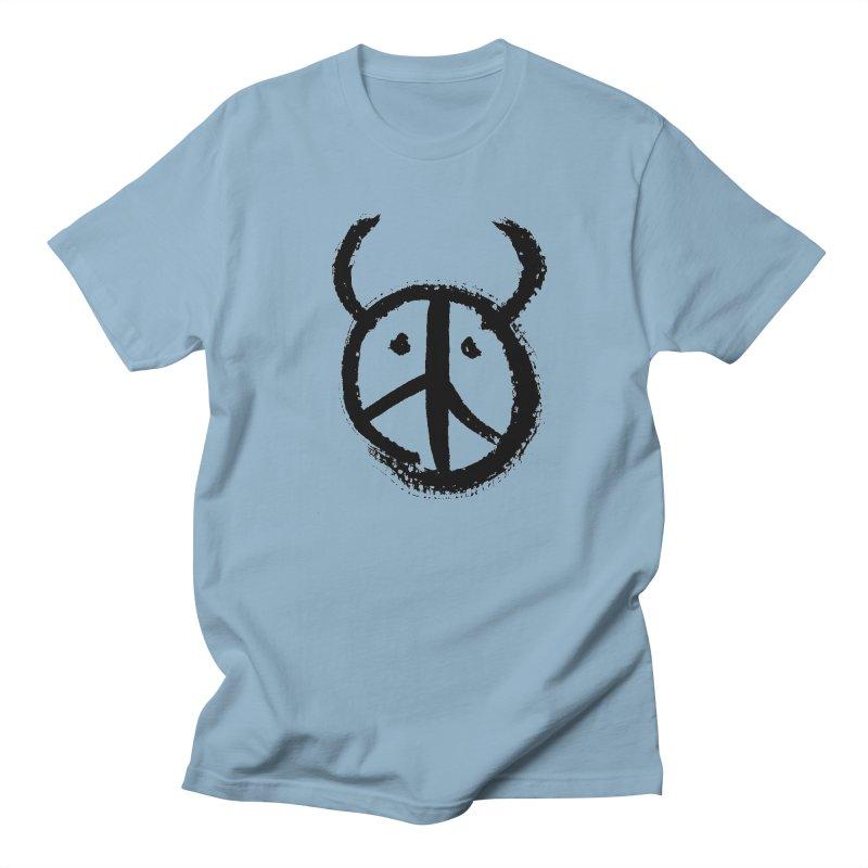 Horned Peace Men's Regular T-Shirt by grzechotnick's Artist Shop