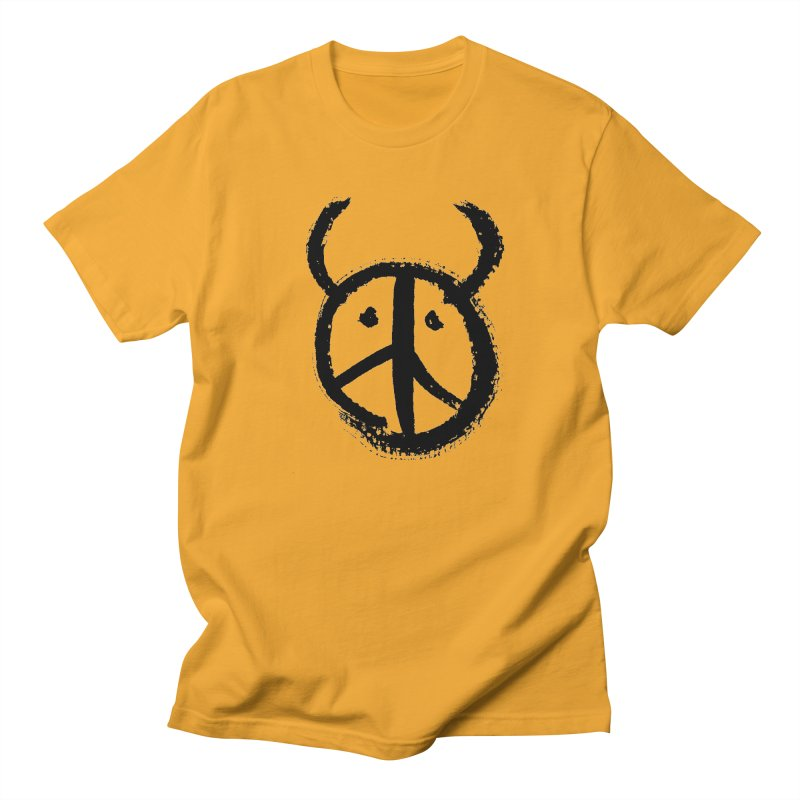 Horned Peace Men's T-Shirt by grzechotnick's Artist Shop