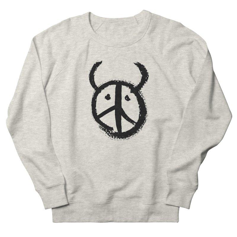 Horned Peace Women's French Terry Sweatshirt by grzechotnick's Artist Shop