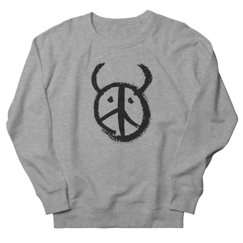 Horned Peace Men's French Terry Sweatshirt by grzechotnick's Artist Shop