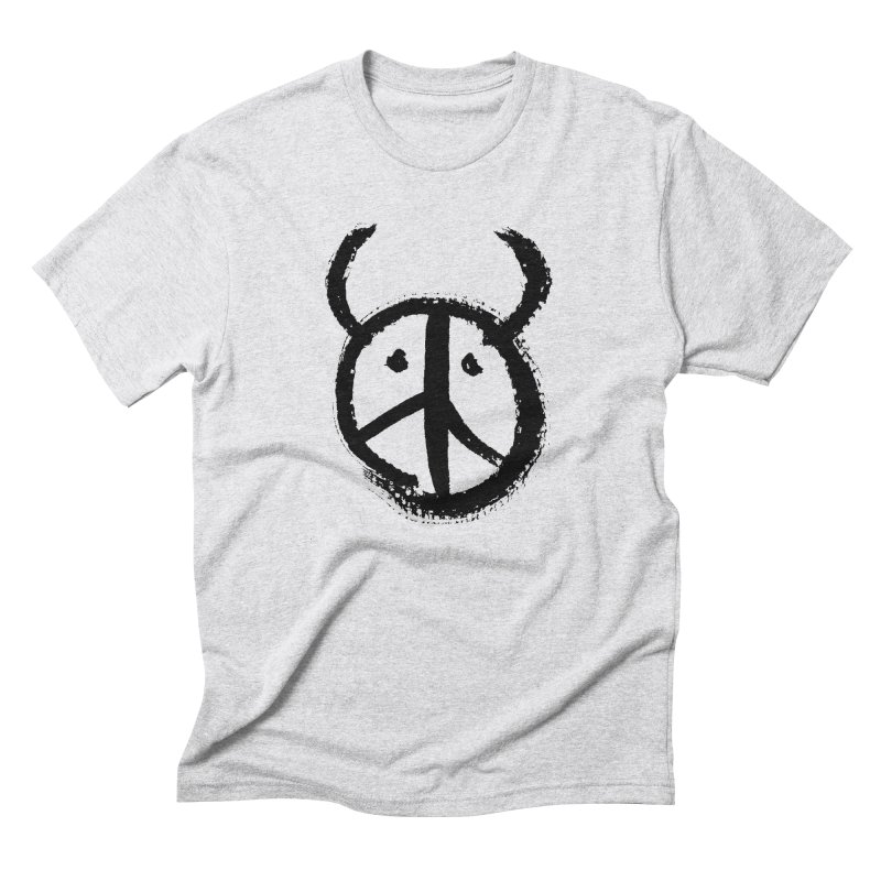 Horned Peace Men's Triblend T-Shirt by grzechotnick's Artist Shop