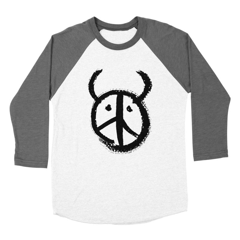 Horned Peace Women's Baseball Triblend T-Shirt by grzechotnick's Artist Shop