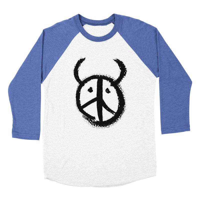 Horned Peace Men's Baseball Triblend Longsleeve T-Shirt by grzechotnick's Artist Shop