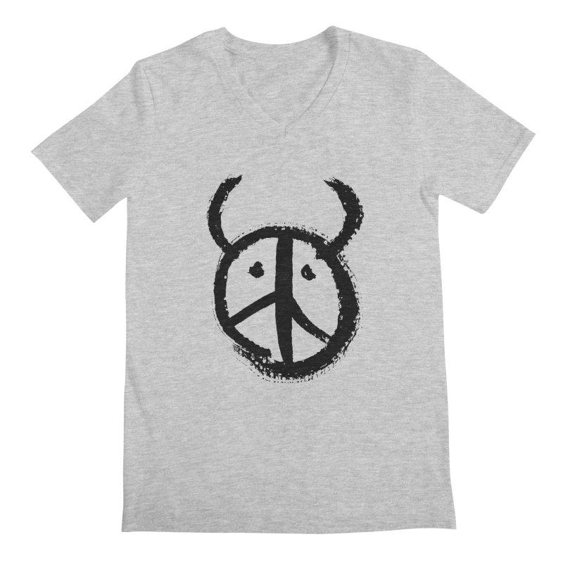 Horned Peace Men's V-Neck by grzechotnick's Artist Shop