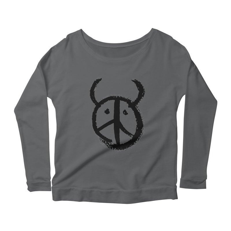 Horned Peace Women's Scoop Neck Longsleeve T-Shirt by grzechotnick's Artist Shop
