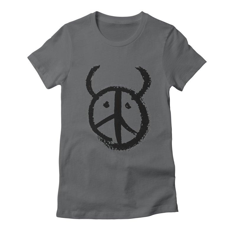 Horned Peace Women's Fitted T-Shirt by grzechotnick's Artist Shop
