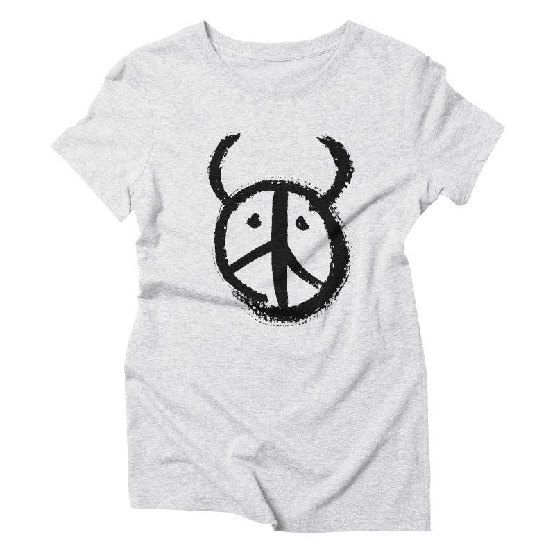 Horned Peace Women's Triblend T-Shirt by grzechotnick's Artist Shop