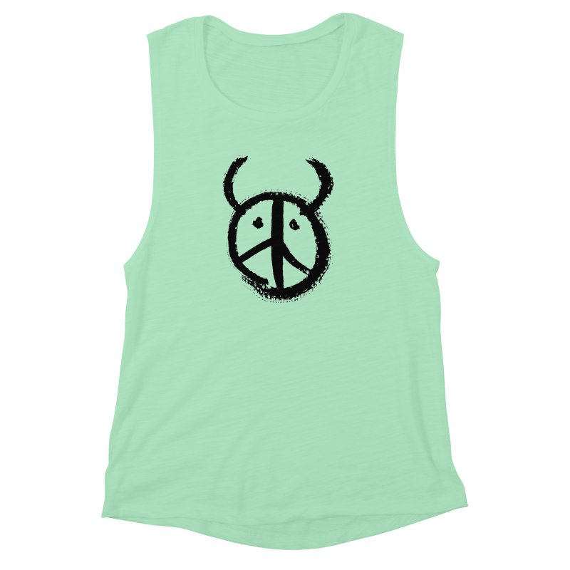 Horned Peace Women's Muscle Tank by grzechotnick's Artist Shop