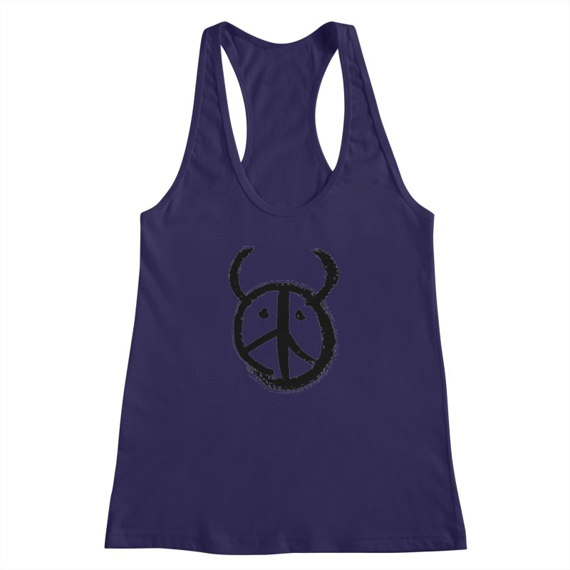 Horned Peace Women's Racerback Tank by grzechotnick's Artist Shop