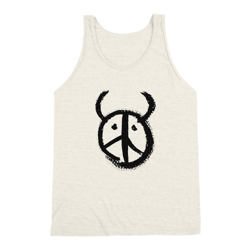 Horned Peace Men's Triblend Tank by grzechotnick's Artist Shop