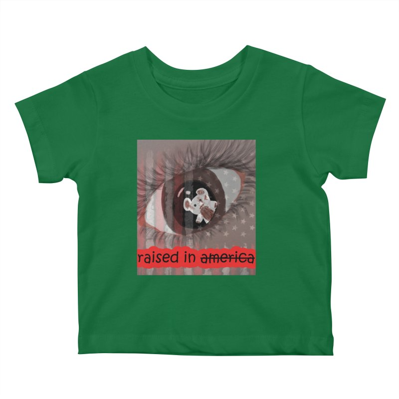 Raised In America Kids Baby T-Shirt by G Slade : Official Merchandise
