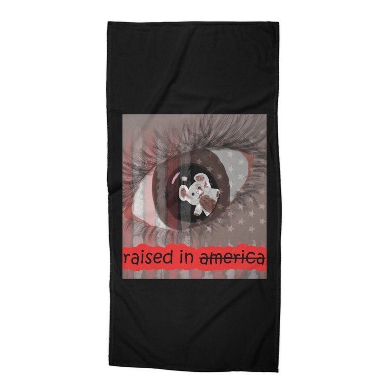 Raised In America Accessories Beach Towel by G Slade : Official Merchandise