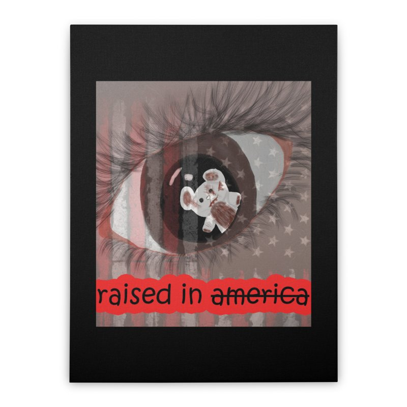 Raised In America Home Stretched Canvas by G Slade : Official Merchandise