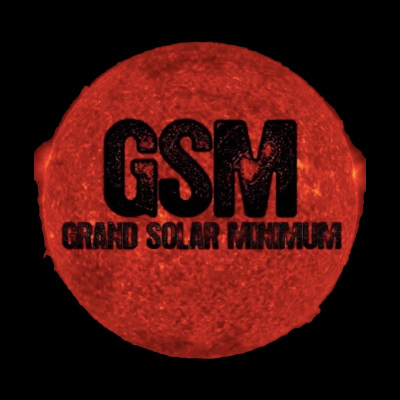 GSM Logo Merchandise by Supporting The Grand Solar Minimum