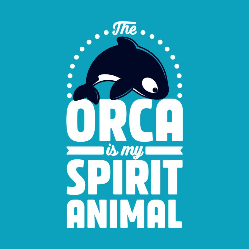 The Orca is my Spirit Animal Men's T-Shirt by Gudland Design